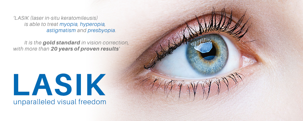 LASIK Treatment Singapore Lee Hung Ming Eye Centre - What is LASIK Banner V2